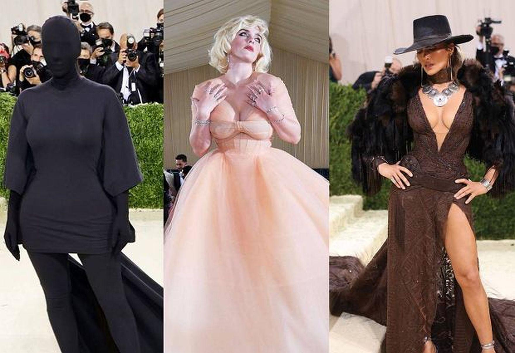 Met Gala 2021: zamaskowana Kim Kardashian, Billie Eilish niczym Marilyn Monroe i Jennifer Lopez w stroju kowboja
