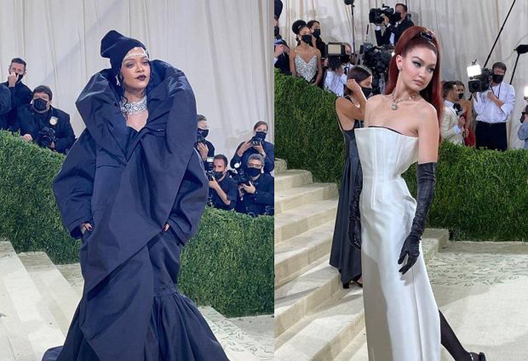 Rihanna w kołdrze, a Gigi Hadid w stylu starego Hollywood. Amerykańskie stylizacje na Met Gala 2021