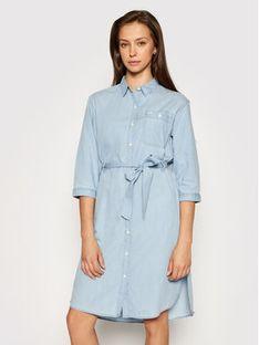 Lee Sukienka koszulowa Denim L50YBEQE Niebieski Regular Fit