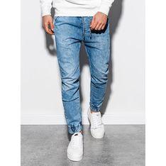 Jeansy męskie Ombre w stylu młodzieżowym bez wzorów