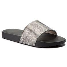 Klapki ZAXY - Snap Glitter Slide Fem 82440 Czarny Brokat 90288 AA285109 02064