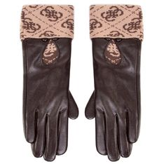 Rękawiczki Damskie GUESS - Valy Gloves AW8545 POL02 BRO
