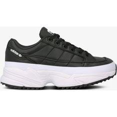 Buty sportowe damskie Adidas gładkie czarne sznurowane