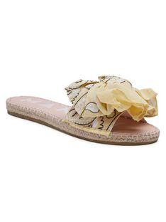 Manebi Espadryle Sandals With Bow G 5.7 J0 Żółty