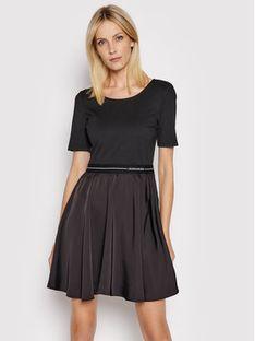 Calvin Klein Jeans Sukienka codzienna J20J216275 Czarny Regular Fit
