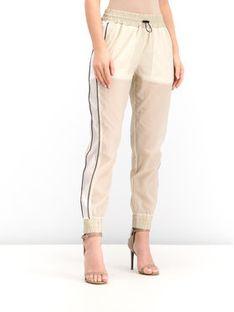 Patrizia Pepe Spodnie dresowe 2P1145/A3MG-J2CB Beżowy Regular Fit