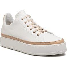 Max Mara buty sportowe damskie sneakersy białe na platformie