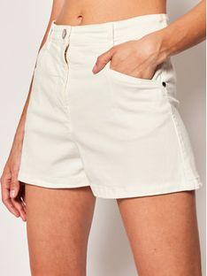 Patrizia Pepe Szorty jeansowe 2J2310/A6W8-W146 Biały Regular Fit