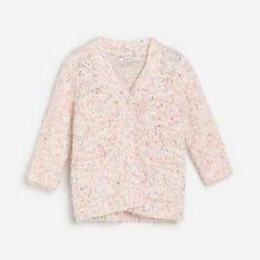 Reserved - Pluszowy kardigan - Różowy