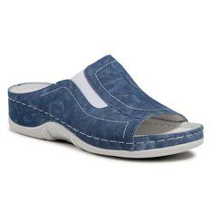 Klapki BERKEMANN - Isabella 01105  Washed Jeans 309
