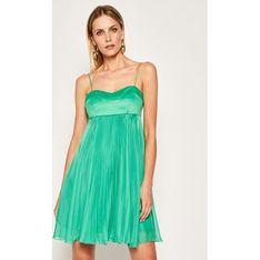 Sukienka Pinko zielona rozkloszowana w serek