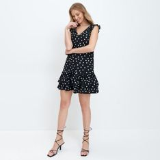 Mohito - Mini sukienka w kropki - Czarny