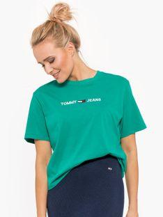 """Tommy Jeans """"Modern Linear Logo Tee"""" Green"""