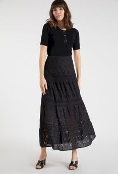 Spódnica maxi z ażurowym wzorem