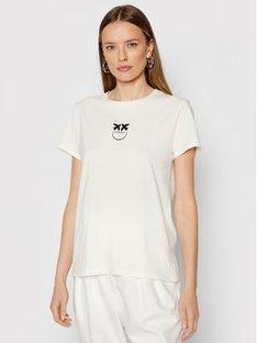 Pinko T-Shirt Bussolotto 1G16J6 Y651 Biały Regular Fit