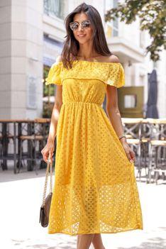 Sukienka MATEKA YELLOW