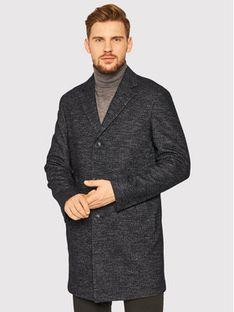 Oscar Jacobson Płaszcz wełniany Santiago 7103 5279 Czarny Regular Fit