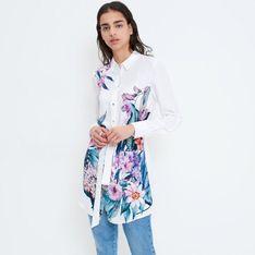 Mohito - Koszula w kwiaty Eco Aware - Biały