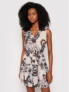 Trussardi Sukienka koktajlowa Fil Coupe Butterfly Print 56D00527 Brązowy Regular Fit