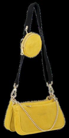 Vittoria Gotti Firmowe Torebki Skórzane Modne Listonoszki na każdą okazję Żółta (kolory)