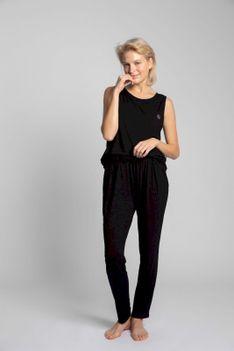 Spodnie od Piżamy z Wiskozy - Czarne