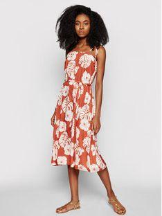 Roxy Sukienka letnia Strappy ERJWD03540 Pomarańczowy Regular Fit