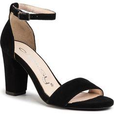 Sandały damskie Oleksy bez wzorów czarne eleganckie