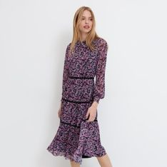 Mohito - Sukienka w kwiaty - Czarny