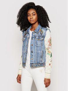 Desigual Kurtka jeansowa Athlas 21SWED45 Niebieski Slim Fit