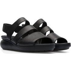 Sandały damskie Camper letnie na platformie ze skóry