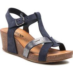 Sandały damskie Igi&Co z klamrą letnie z nubuku