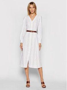 MICHAEL Michael Kors Sukienka letnia MS18Y461QG Biały Regular Fit