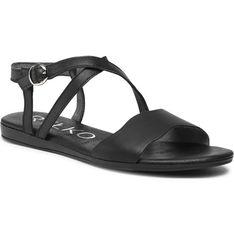 Sandały damskie Ryłko ze skóry