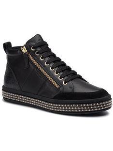 Geox Sneakersy D Leelu' G D94FFG 08554 C9999 Czarny