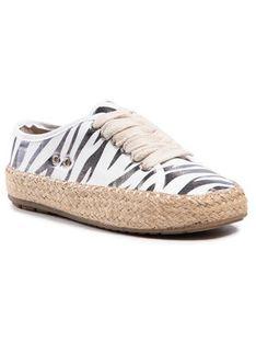 EMU Australia Espadryle Agonis Zebra Teens T12573 Biały