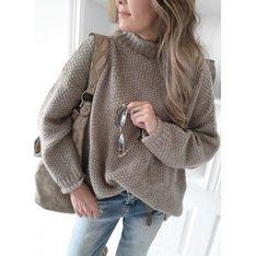 Brązowy sweter damski Sandbella