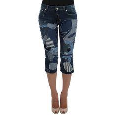 Patchwork Jeans Shorts