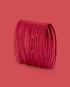 Bransoletka Bernardini - czerwona bez metalowego zapięcia