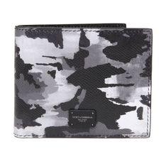 skórzany portfel z nadrukiem kamuflażu