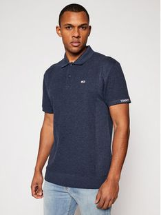 Tommy Jeans Polo Heritage Mini Waffle DM0DM10587 Granatowy Relaxed Fit