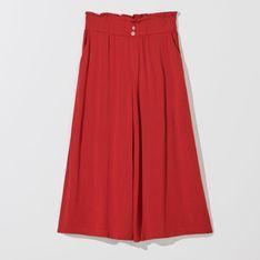 Mohito - Wiskozowe spodnie culotte - Czerwony