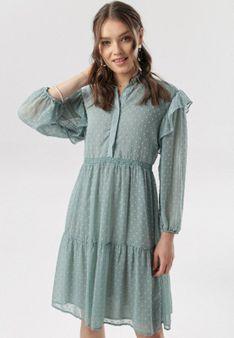 Miętowa Sukienka Aroanise