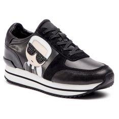 Sneakersy KARL LAGERFELD - KL61930 Black Lthr/Suede