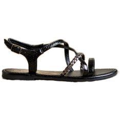 Sandałki Z Eko Skóry VINCEZA czarne