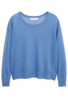 Mango - Sweter - jasnoniebieski