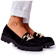 Zamszowe Mokasyny Lewski Shoes 3040 Czarne