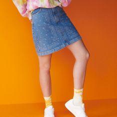 Reserved - Denimowa spódnica mini - Wielobarwny