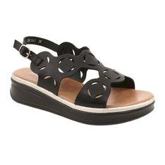 Sandały damskie czarne Sergio Leone SK041