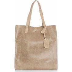 Shopper bag Vera Pelle brazowy