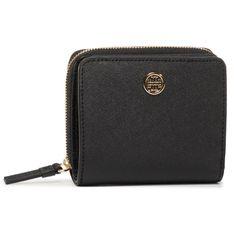 Mały Portfel Damski TORY BURCH - Robinson Bi-Fold Wallet 56621 Black 001